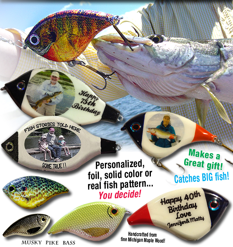 fat boy fishing lures, designed and made by hand, custom designed, Hard Baits